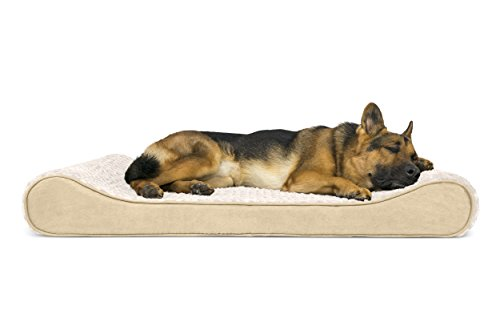 FurHaven Pet Dog Bed | Orthopedic Ultra Plush Luxe Lounger Pet Bed for Dogs & Cats, Cream, Jumbo