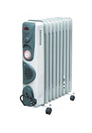 Ardes 474T Gris 2400W Radiador - Calefactor (Radiador, Aceite, 24 h, Piso