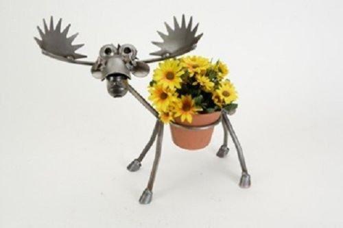 Yardbirds Junkyard Metal Animal Moose Pot Holder - F221 ()