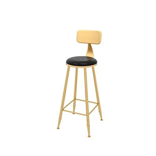 Household Kitchen Creative Chair Leisure Bar Chair Simple Durable High Stool Iron Art Nordic Simplicity Modern Bar Stool 70-100CM (Color:Black,Size:404090CM) (Color : Black, Size : 404090CM)