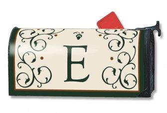Grande Manor Monogram E MailWraps Magnetic Mailbox Cover #09700E (Monogram Grande)