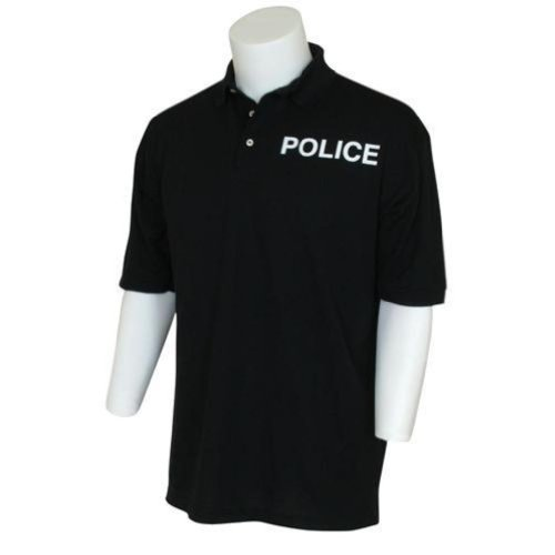 Fox Outdoor Products Police Imprinted Polo Shirt, Black, Medium
