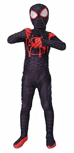 Barfest Kids Superhero Lycra Spandex Zentai Costumes 3D Bodysuit Black
