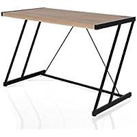 ACME Furniture 92348 Finis Desk with USB Dock, Light Oak/Black