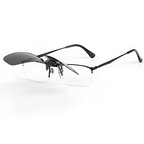 Lens LianSan Clip de Mujeres Aire Flip Libre Sol Polarizadas en Gafas Gris Lsp6260 Driving al Mirrored Deporte Up Sunglasses Men Rectángulo p4wr4E