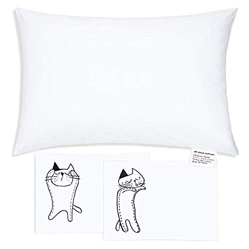 Organic Toddler Pillow 13×18 100% Cotton Soft Baby Sleeping Pillow with 2 Pillowcases Breathable and Washable Kids…