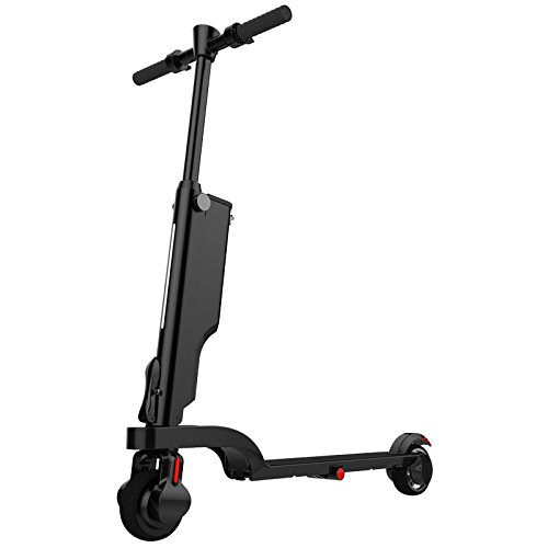 Foldable Electric Scooter with LED Light & Bluetooth Speaker & Power Bank, 25 Mph(Speed), 25 Miles(Distance Range), Easy to Carry and Save Place Design for Adult Teens