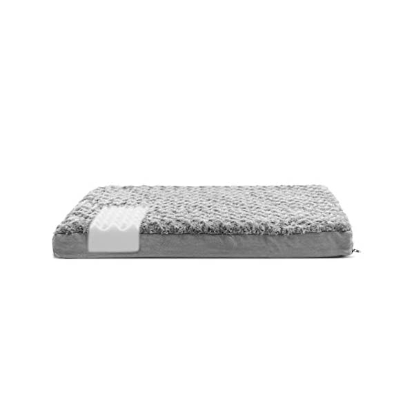 FurHaven Pet Dog Bed | Deluxe Orthopedic Ultra Plush Mattress Pet Bed for Dogs & Cats, Gray, Large 4
