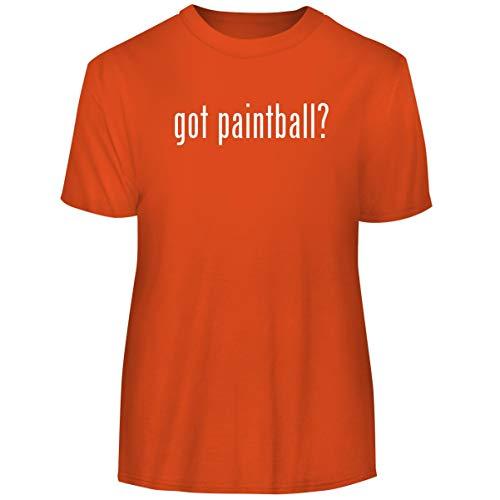 One Legging it Around got Paintball? - Men's Funny Soft Adult Tee T-Shirt, Orange, (08 Mens Paintball T-shirt)