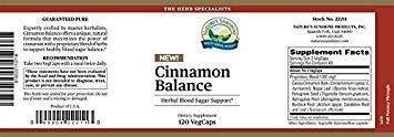 Cinnamon Balance for Blood Sugar Stabilization - 120 Vegi caps