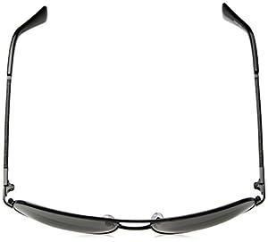 Cole Haan Men's Ch6001s Aviator Sunglasses, Dark Gunmetal, 59 mm