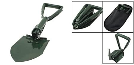 Uniek Deals Portable Camping Hiking Military Survival Garden Mini Folding Shovel with Case