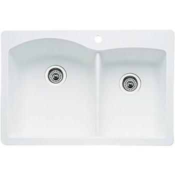 This Item Blanco 511 606 Diamond 1 3 4 Bowl Kitchen Sink White Finish