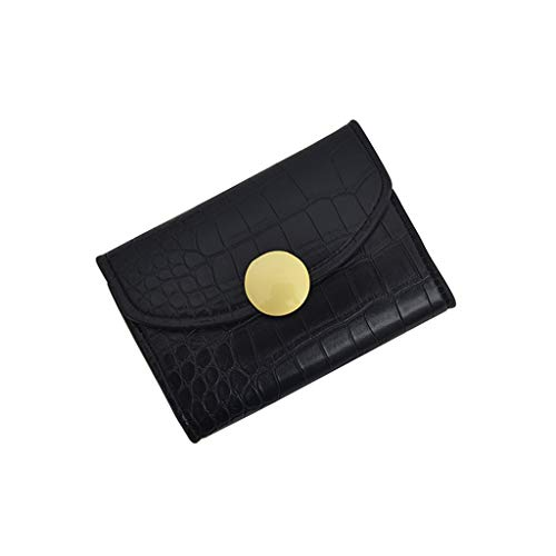 Serpentine Clutch - Pinleg Handbag Women Retro Pure Color Serpentine Long Wallet Coin Purse Card Holder Vintage Leather Hasp Purse Square Clutch Wallet (Black)