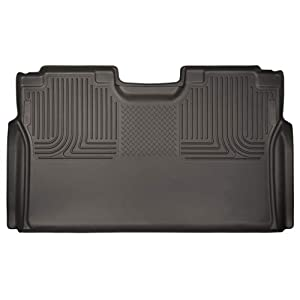 Husky Liners 53490 Cocoa 2nd Seat Floor Liner Fits 15-19 F-150 SuperCrew, 17-19 Ford F-250/F-350 Crew Cab Without Factory Storage Box