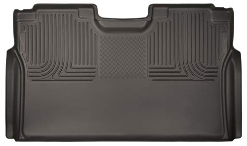Husky Liners Second (Full Coverage) 53490 X-act Contour Series 2nd Seat Floor Liner, Cocoa for 15-17 Ford F-150/250/350 Super Duty & Super Crew Cabs