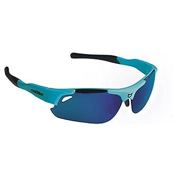 Catlike S Sphynx Gafas para Ciclismo con Lente Fotocromática, Azul (Blue Cian),