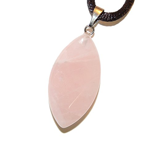 Steampunkers USA Wild Earth Collection - 30mm Faceted Oval Petal Leaf Rose Quartz Pink, 20