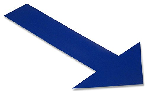 Ind Floor Tape Markers, Arrow, Blue, PK 50