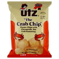 Utz Potato Chips, The Crab Chip, Family Size, 9.5 oz, (pack of 3)