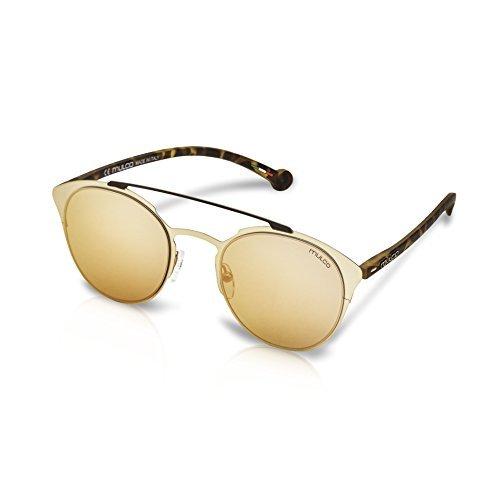 Mulco Leaf Cat Gold Frame / Pink Lens 48 mm Round - Mulco Sunglasses