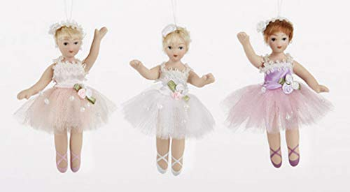 Delton 3.5 Inches Porcelain Ballet Dolls, Set Of 3