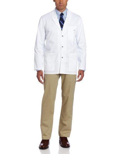 Dickies hombres de la GEN Flex YOUTILITY contraste de punto de bata de laboratorio, blanco