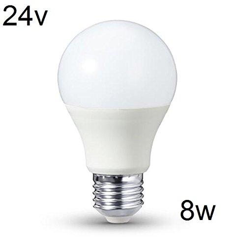 Bombilla LED, E27, 12-24 V, 12 V, 24 V, 8 W, luz blanca cálida: Amazon.es: Iluminación