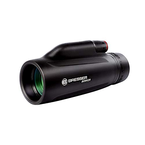 Bresser Borken Monocular Telescope, 10X42 High Power Prism Monocular, Waterproof Monocular with Clear FMC Prism for Bird Watching, Camping, Hiking, Hunting