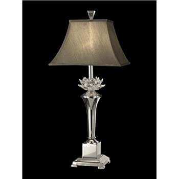 Beautiful Dale Tiffany GT11218 Paseo Crystal Table Lamp, Polished Nickel