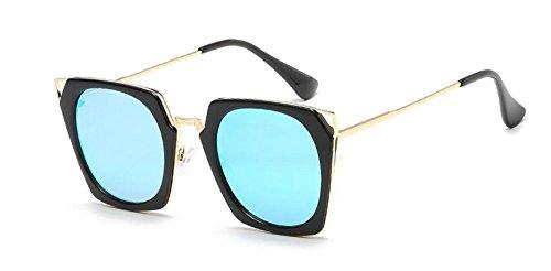retro inspirées cercle polarisées Glacier en de style du Bleu rond métallique lunettes Lennon vintage soleil TqYBnxn4