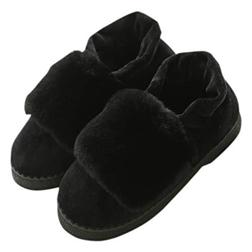 Pantofole 36 Nero Antiscivolo In Dimensioni Da Inverno Donna Autunno E Huyp Cotone Nero colore 1Uw1RqAc