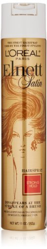 (L'Oreal Paris Elnett Satin Hairspray, Strong Hold, 11 Ounce (Pack of 3))
