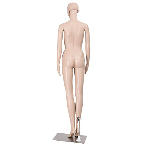 68.9'' Full Body Female Mannequin PE Plastic Realistic Display Head Turns Dress Form w/Metal Base by AyaMastro (Image #1)