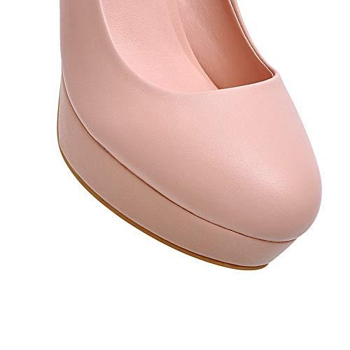 BalaMasa Solid Womens Shoes Pink APL10536 Outdoor Platform Urethane Pumps rUr1nxBW