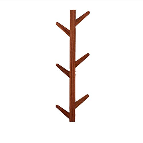 NBRTT Perfect Wooden Coat Rack Stand, Wall-Mounted Hook Bamboo and for Hat,Clothes,Purse,Scarves,Handbags Storage Hallway Bathroom Living Room Bedroom