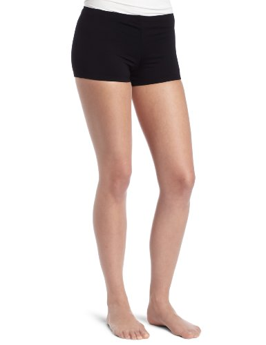 Danskin Women's Boy Cut Short, Black, Large (Boy Short Cut Child)