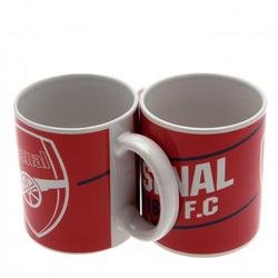 ARSENAL FC Official Ceramic Mug ES Red White Club Crest Coffee Cup Gunners