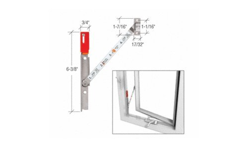 CRL Left Hand Stainless Steel Truth® Casement Window Opening Control Device EP27037 by CR Laurence