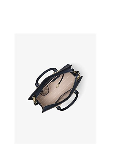 Michael Kors Quinn Large Saffiano Leather Satchel (Navy Blue)