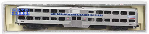 Kato USA Model Train Products Gallery Bi-Level Cab-Coach Virginia Railway Express #V716 Set