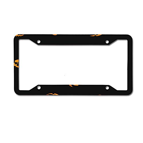 Mrsangelalouise Glowing in The Dark Eyes Haloween Pattern License Plate Frame Car tag Aluminum Car Licence Plate Cover for US Standard 4 Holes Screws]()