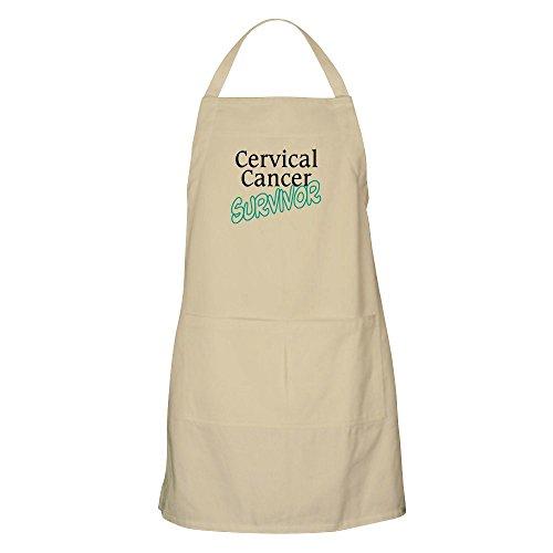 CafePress Cervical Cancer Survivor BBQ Apron Kitchen