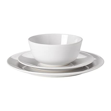 Ikea 18-piece dinnerware set white 1228.111129.106  sc 1 st  Amazon.com & Amazon.com | Ikea 18-piece dinnerware set white 1228.111129.106 ...