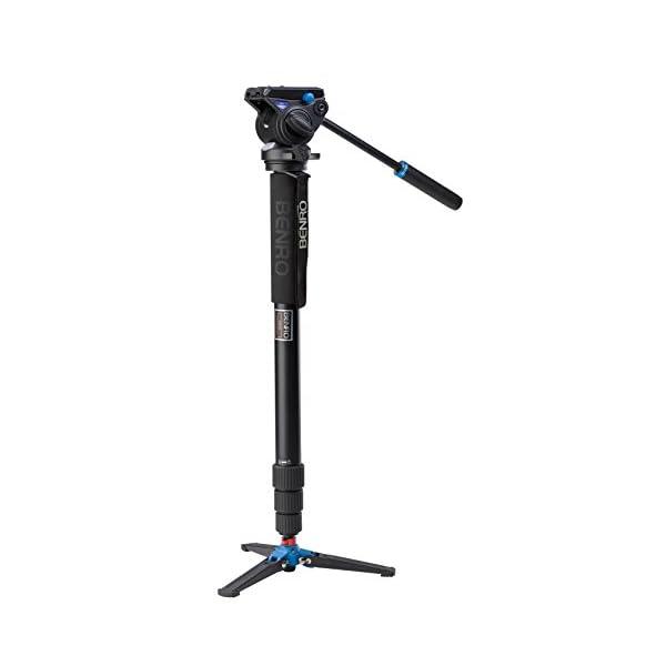 RetinaPix Benro Aluminum 4 Series Twist-Lock Video Monopod Kit w/ 3-Foot Articulating Base and S4 Video Head