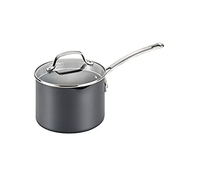 Circulon Genesis 3-qt. Hard-Anodized Nonstick Covered Straining Saucepan