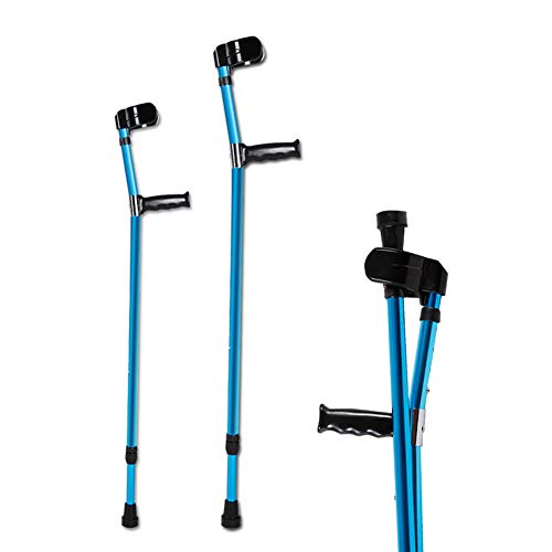 Wgwioo Forearm Crutch, Medical Ergonomic Comfy Grip Handle, for Elderly, Handicapped, and Disabled ()