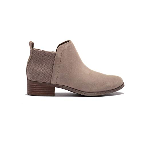TOMS Desert Taupe Suede/Heritage Canvas Women's Deia Bootie 10013039 (Size: 8.5) (Tom Toms Shoes Womens)