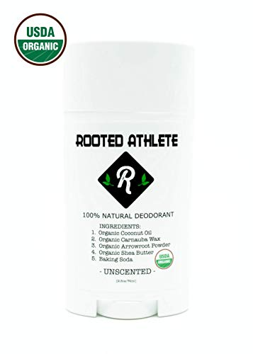100% Natural Deodorant (That Works!) - UNSCENTED - Aluminum Free - Certified Organic - for Women and Men (Best Deodorant For Female Athletes)