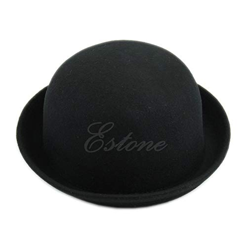 Vintage Vogue Wool Bowler Derby Hat Cap Women Men Blue